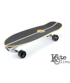 Surfskate JOYFUL SILVER 30″ by Slide Surf Skateboards.